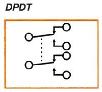 Double Pole Double Throw Relay Contact Diagram